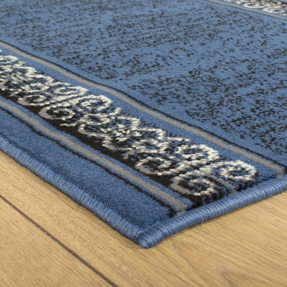 Blue Hallway Carpet Runner Tribal Inside Hall Runners Any Length (#10 of 20)