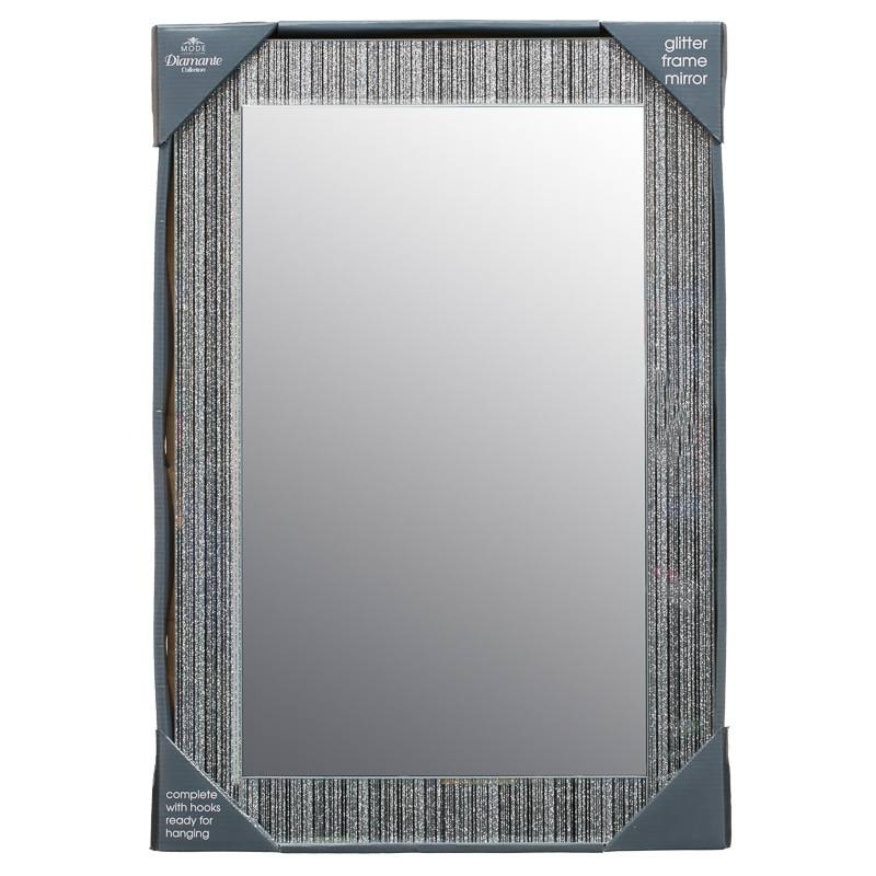 B&m Glitter Frame Mirror – 295573 | B&m Intended For Glitter Wall Mirrors (#7 of 30)