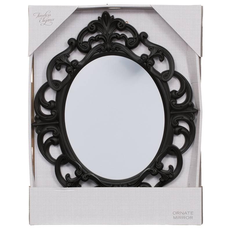 B&m Small Ornate Oval Mirror – 295297   B&m Inside Black Oval Mirrors (#11 of 30)