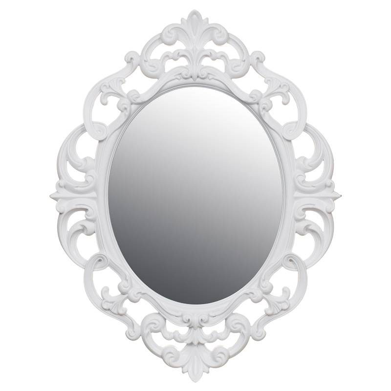 B&m Small Ornate Oval Mirror – 295297 | B&m With Regard To White Oval Mirrors (View 2 of 20)