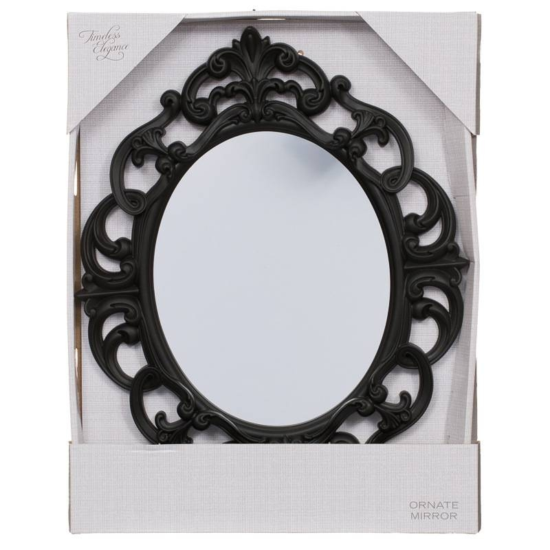B&m Small Ornate Oval Mirror – 295297 | B&m Within Large Black Ornate Mirrors (View 7 of 30)