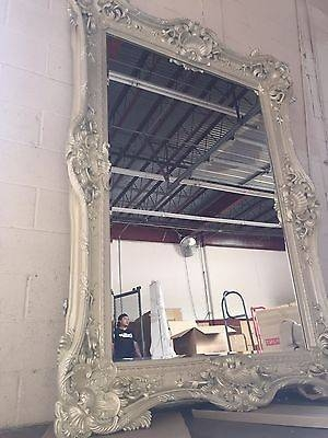 Inspiration About Boho Antique Pearl White 95 French Baroque Ornate Boudoir  Bridal For French Floor Mirrors