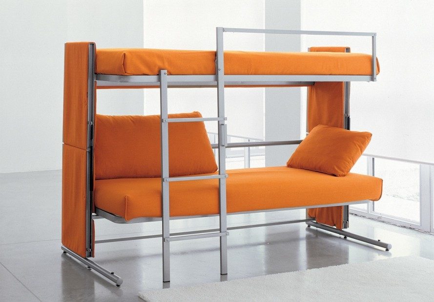 Bonbons Brilliant Doc Sofa Transforms Into A Bunk Bed In A Snap Intended For Sofa Bunk Beds (#3 of 15)