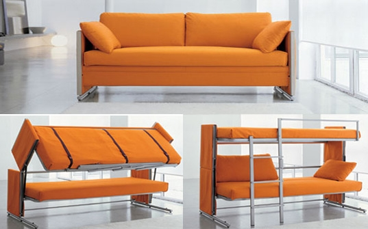 Bonbons Brilliant Doc Sofa Transforms Into A Bunk Bed In A Snap Intended For Sofa Bunk Beds (#2 of 15)