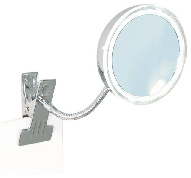Br Clamp Round Flexible Arm 5x Led Cosmetic Makeup Magnifying With Contemporary Round Mirrors (View 18 of 20)