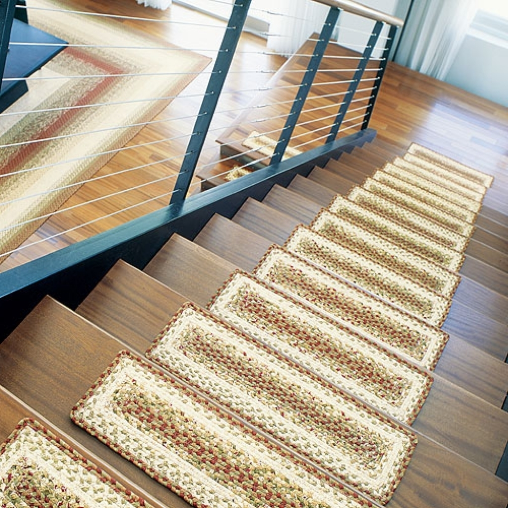 rug for stairs. braided rug stair treads rugs ideas vandome within ( for stairs