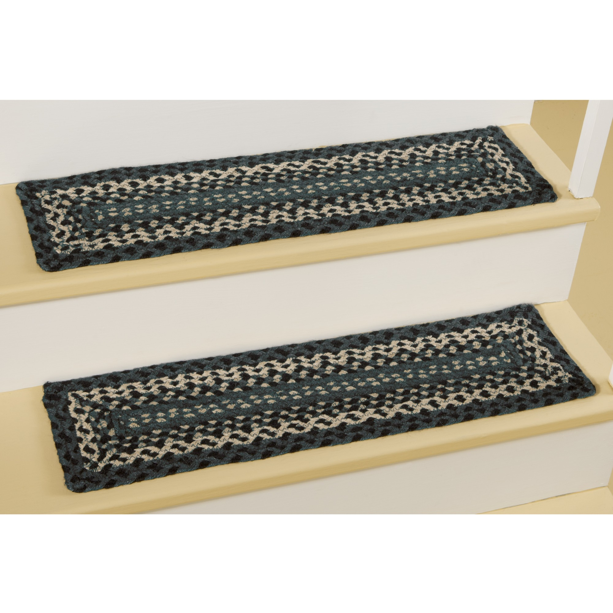 Braided Stair Treads Rectangle Non Slip Braided Stair Treads With Regard To Braided Rug Stair Treads (#7 of 20)