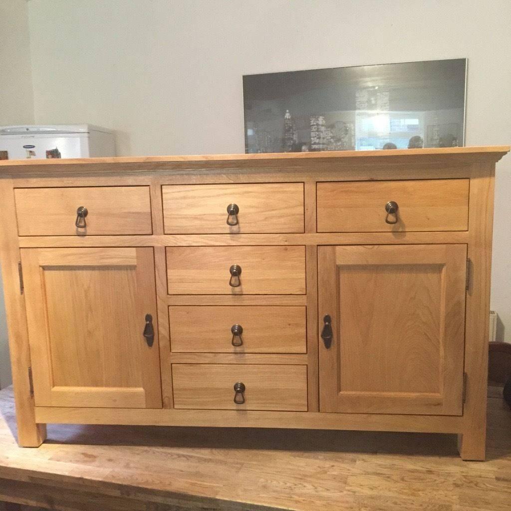 Brand New Knightsbridge Oak Sideboard Still For Sale | In Batley Regarding Sideboard For Sale (#9 of 20)