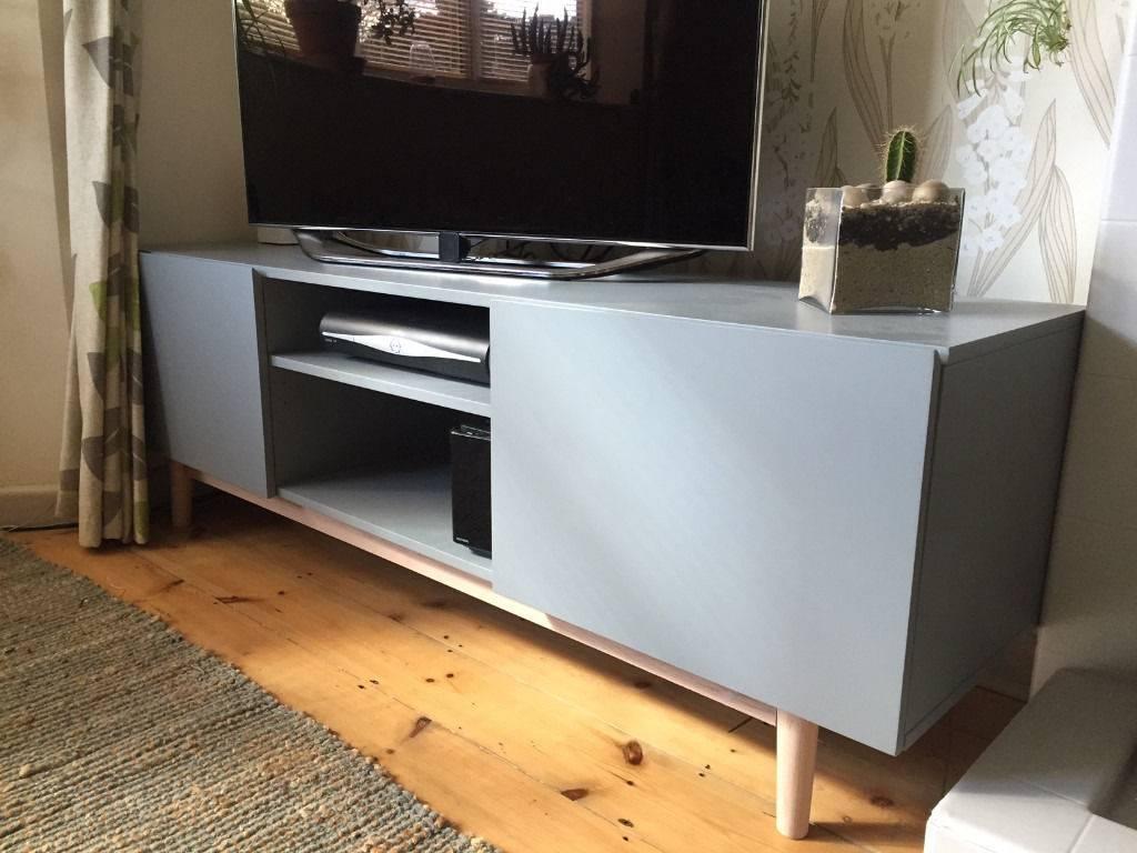 Brand New – Matt Grey / Wood Modern Tv Stand / Cupboard Throughout Sideboard Tv Stand (#9 of 20)
