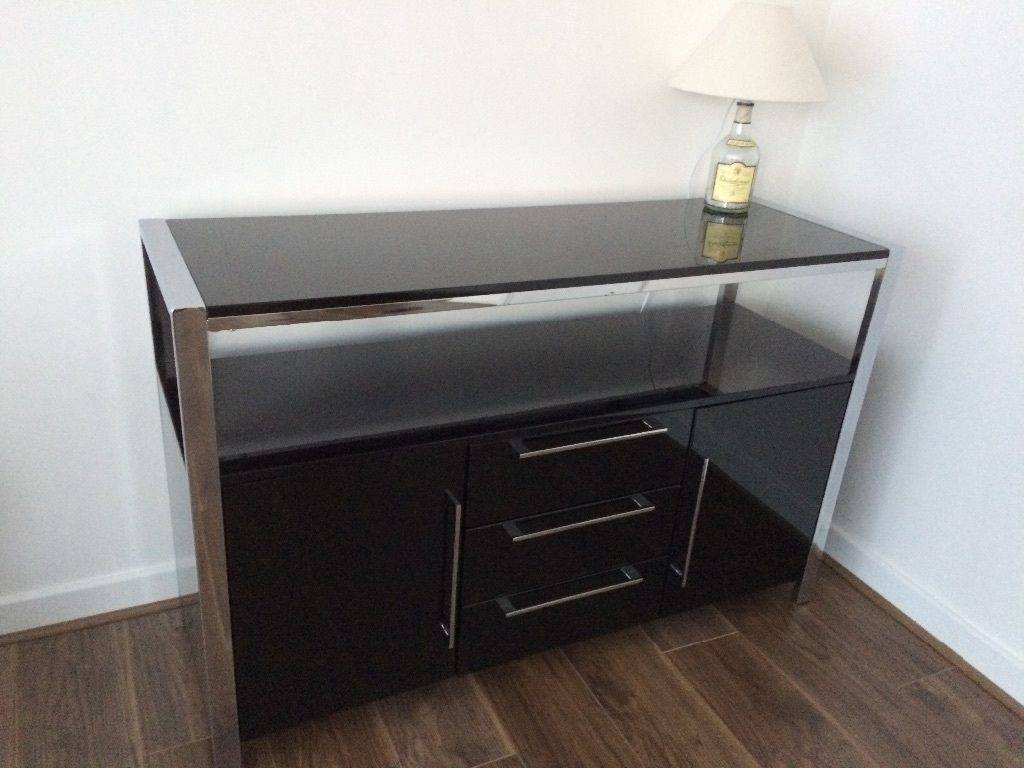 Brand New Modern High Gloss 2 Door 3 Drawer Sideboard Fully Intended For Fully Assembled Sideboards (#5 of 20)