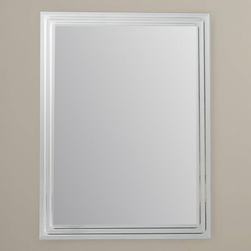 Brayden Studio Frameless Tri Bevel Wall Mirror & Reviews | Wayfair Regarding Frameless Wall Mirrors (#4 of 30)