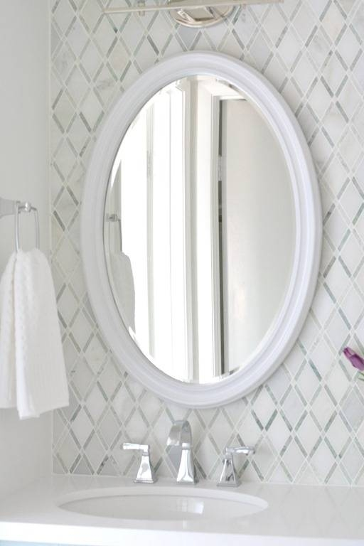 Breathtaking Oval Bathroom Vanity Mirrors Oval Mirrors For With Regard To White Oval Mirrors (View 6 of 20)
