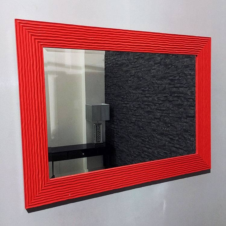 Bright Red Framed Galaxy Wall Mirror 108X78Cm | Exclusive Mirrors With Regard To Red Wall Mirrors (#10 of 30)