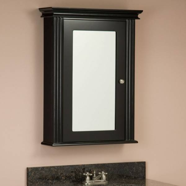 Brilliant Bathroom Vessel Sink Vanity Sets Using Rectangular Intended For Black Cabinet Mirrors (#21 of 30)