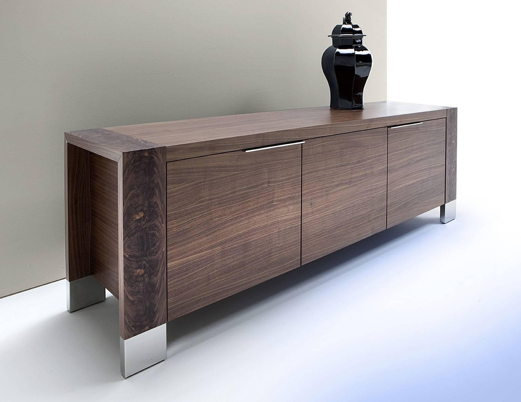 Brilliant Dining Room Buffets Sideboards With Rectangular Shape In Black And Silver Sideboard (#5 of 20)