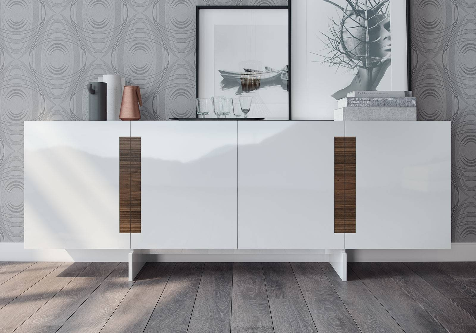 Brixton Sideboardmodloft | Modern Sideboards | Cressina For White Modern Sideboard (View 1 of 20)