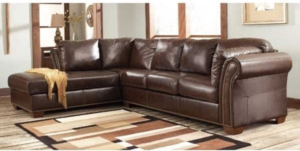 Brown Leather Sectional Sofa With Vintage Look Plushemisphere Intended For Vintage Leather Sectional Sofas (#8 of 15)