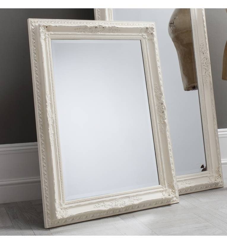 Buckingham Vintage White Mirror Buckingham Vintage White Mirror Throughout Contemporary White Mirrors (#7 of 15)