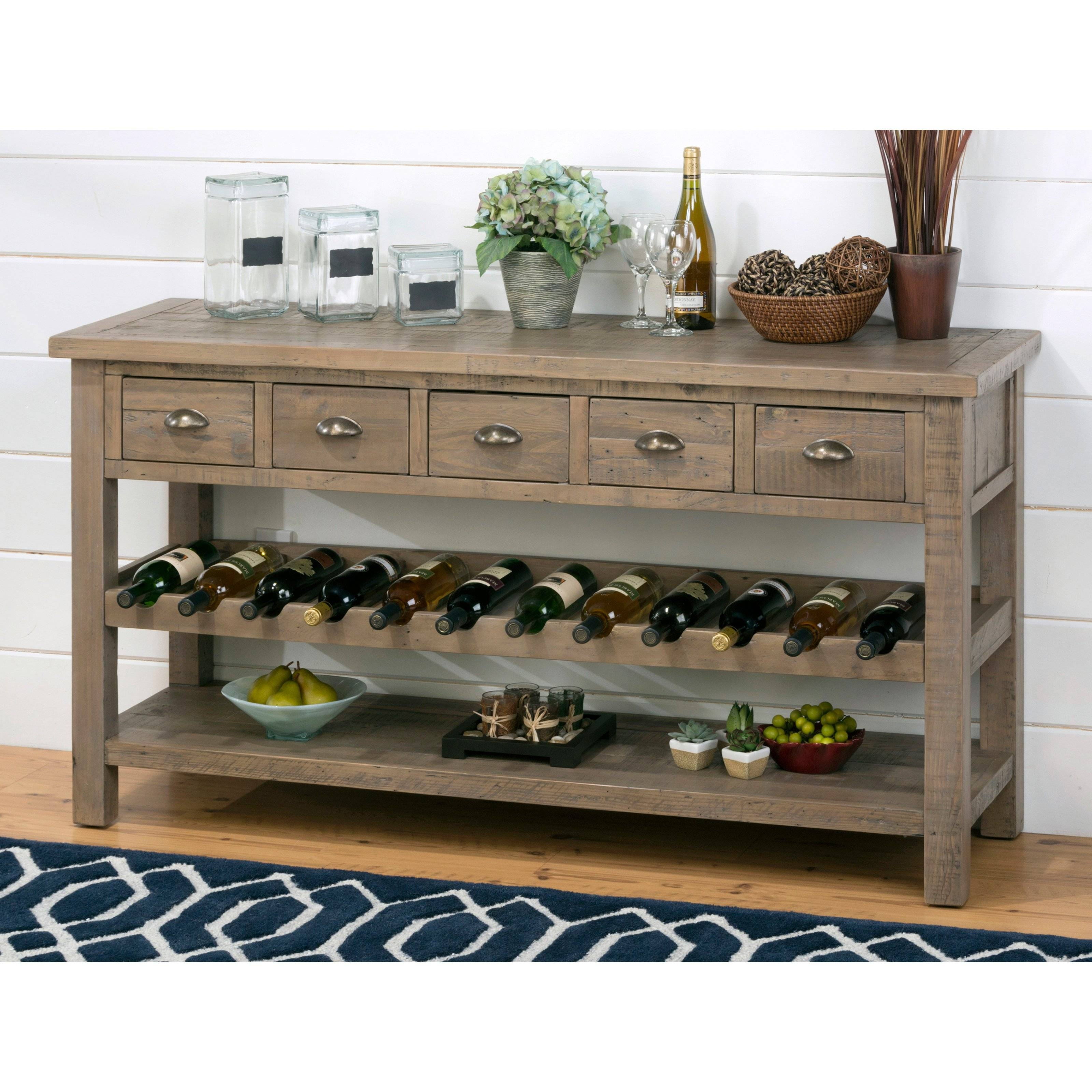 Buffet Server With Wine Rack 1932Ac Contemporary Buffets And Wine With Regard To Sideboards With Wine Racks (#2 of 20)