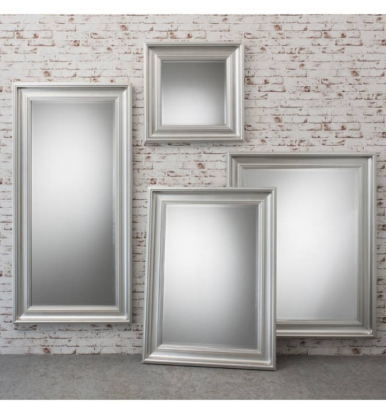 Burwell Silver Mirror Burwell Silver Mirror – Silver Modern Wall Throughout Modern Silver Mirrors (#4 of 20)