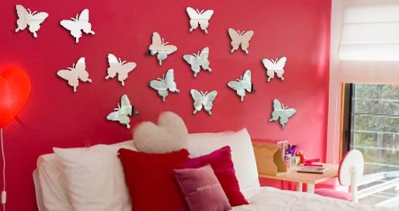 Butterflies Wall Mirrors | Dezign With A Z Pertaining To Butterfly Wall Mirrors (#5 of 20)