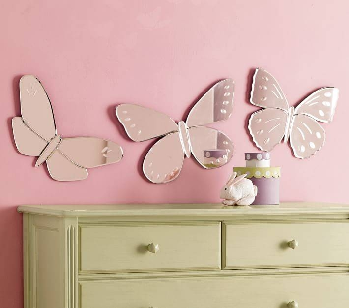 Butterfly Mirrors | Pottery Barn Kids Regarding Butterfly Wall Mirrors (#8 of 20)