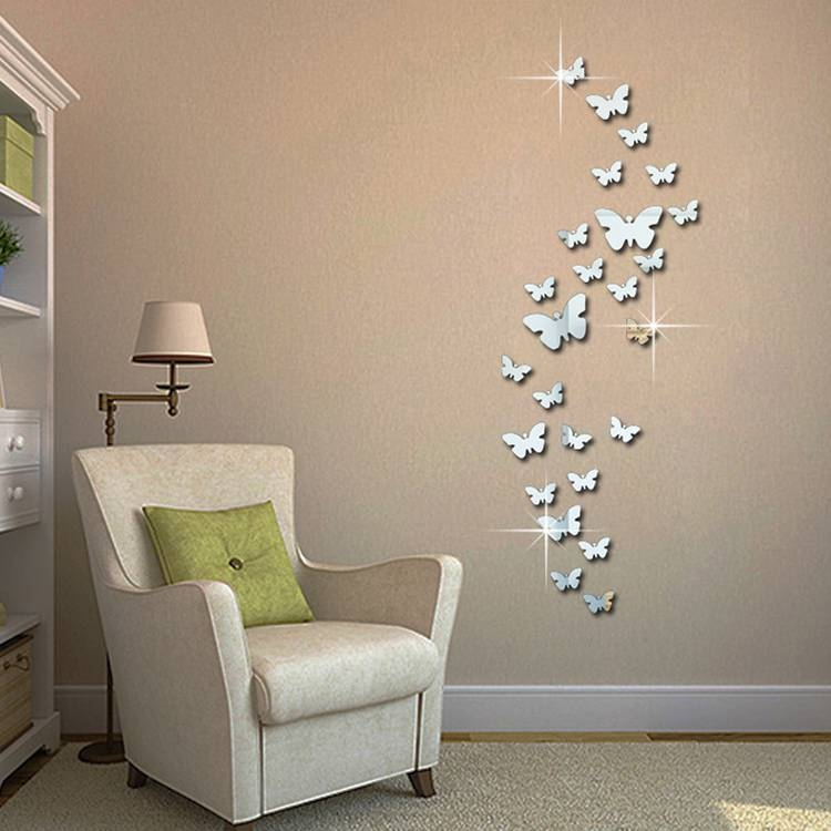 Butterfly Wall Mirrors Promotion Shop For Promotional Butterfly Within Butterfly Wall Mirrors (#14 of 20)