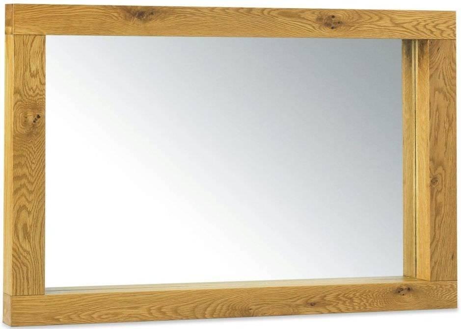 Buy Bentley Designs Lyon Oak Mirror – Large Landscape Online – Cfs Uk Inside Large Oak Mirrors (View 5 of 20)