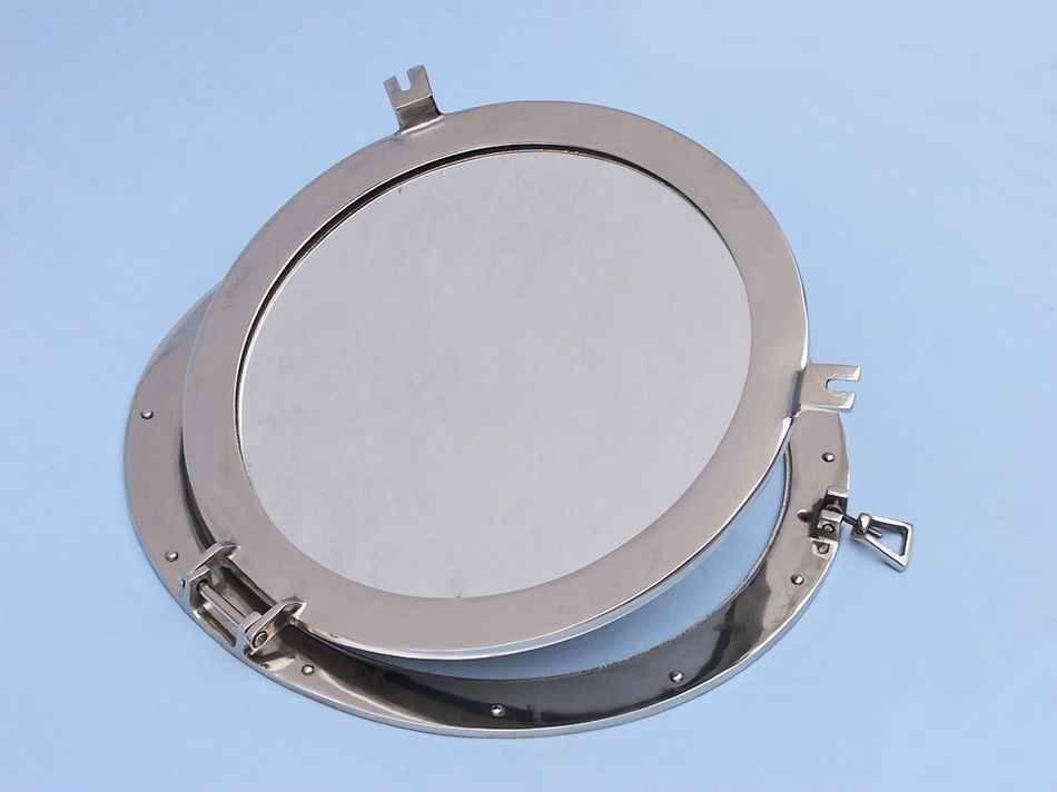 Buy Chrome Decorative Ship Porthole Mirror 24 Inch – Wholesale Beach Intended For Porthole Mirrors (#11 of 30)