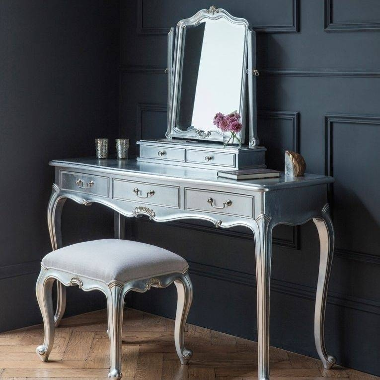 Buy Frank Hudson Chic Silver Dressing Table Mirror Online – Cfs Uk With Regard To Silver Dressing Table Mirrors (#6 of 20)