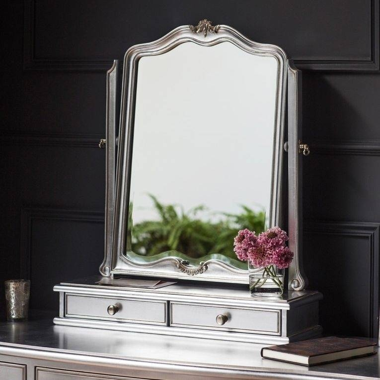 Buy Frank Hudson Chic Silver Dressing Table Mirror Online – Cfs Uk With Regard To Silver Dressing Table Mirrors (#5 of 20)