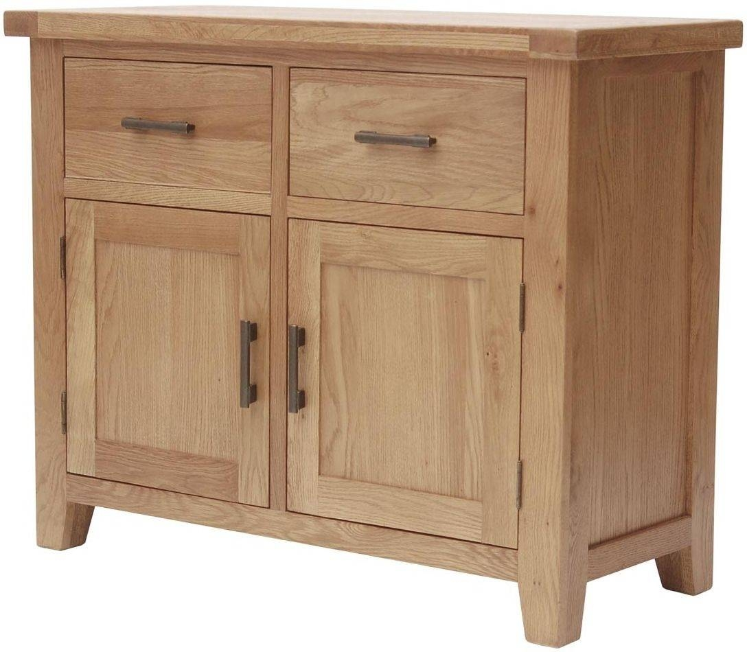 Buy Furniture Link Hampshire Oak Sideboard – Small Online – Cfs Uk Throughout Small Wooden Sideboard (#3 of 20)
