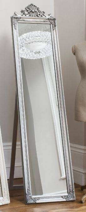Buy Gallery Direct Lambeth Wood Cheval Mirror – Silver Online – Cfs Uk Inside Silver Cheval Mirrors (#8 of 20)