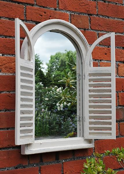 Buy Garden Wall Mirror With Shutters: Deliverycrocus Pertaining To Wall Mirrors With Shutters (View 3 of 20)