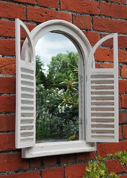 Buy Garden Wall Mirror With Shutters: Deliverycrocus Pertaining To Wall Mirrors With Shutters (#10 of 20)