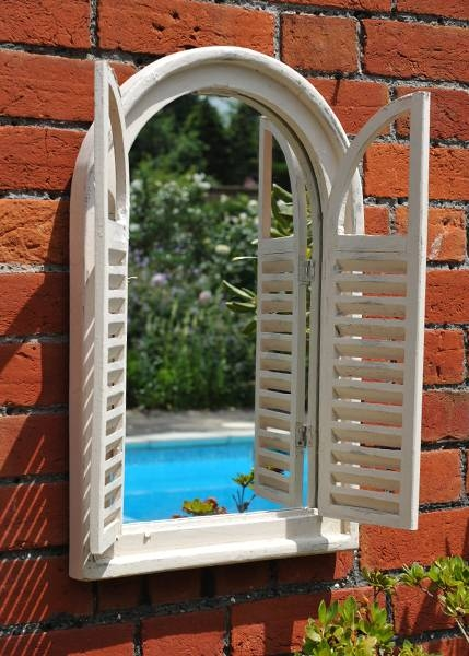 Buy Garden Wall Mirror With Shutters: Deliverywaitrose Garden In Garden Window Mirrors (#10 of 20)