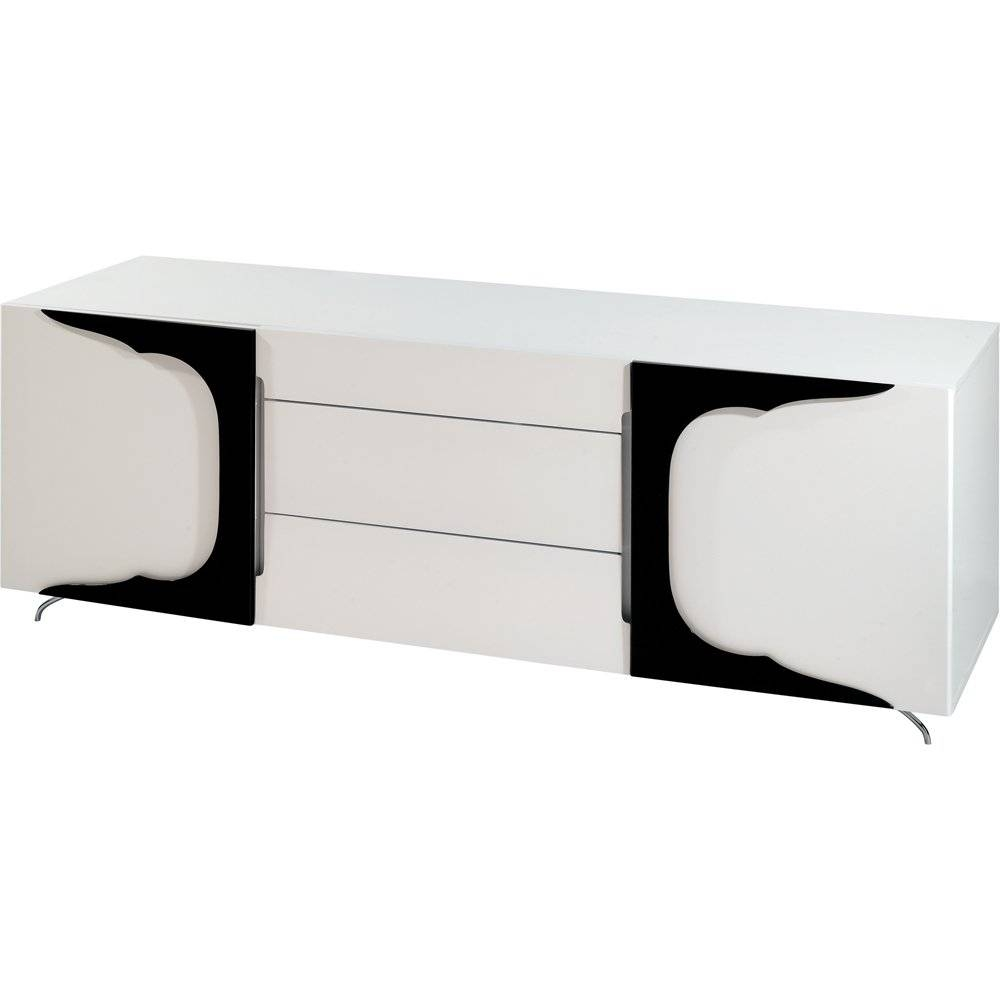 Buy Gillmore Space High Gloss White And Black Sideboard Online Throughout Black High Gloss Sideboards (#5 of 20)