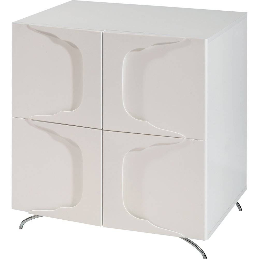 Buy Gillmore Space High Gloss White Square Sideboard | White Sideboard Inside Gloss White Sideboard (#4 of 20)