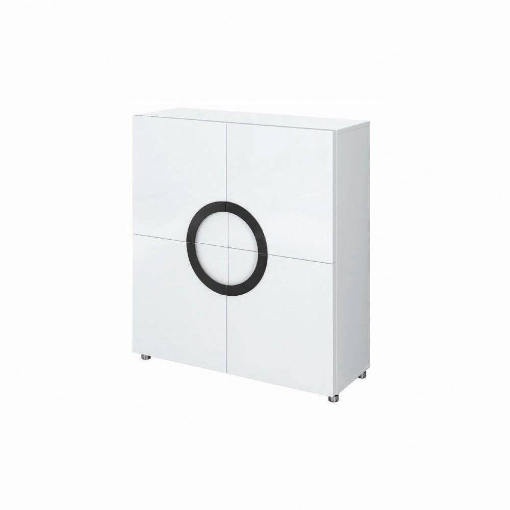 Buy Gillmore Space White High Gloss Square Sideboard | Slim Sideboard Pertaining To Slim Sideboards (#7 of 20)