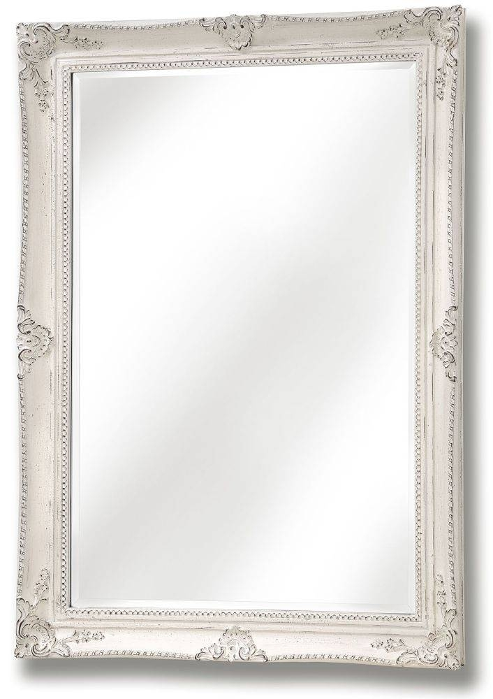 Buy Hill Interiors White Antique French Vintage Style Mirror Within White Antique Mirrors (#10 of 20)