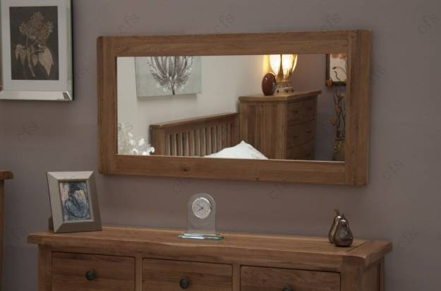 Buy Homestyle Gb Rustic Oak Mirror – Large Online – Cfs Uk Inside Rustic Oak Mirrors (View 14 of 20)