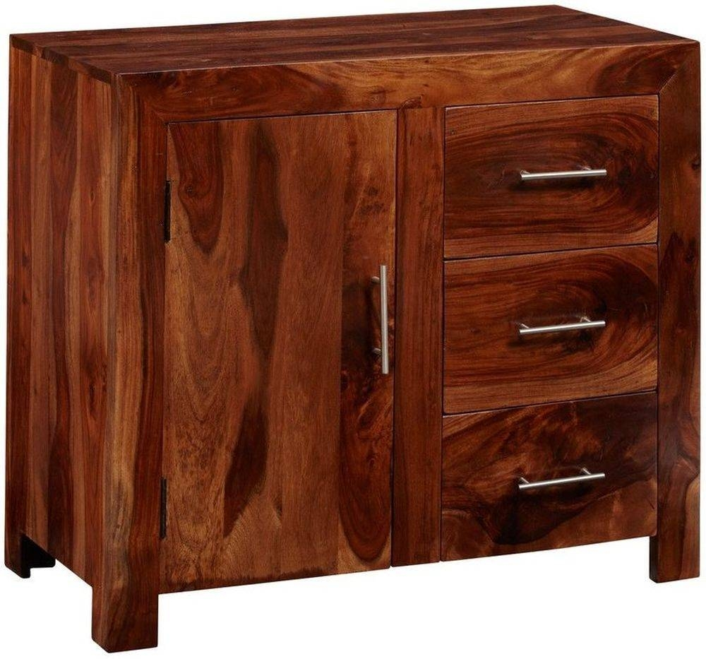Buy Indian Hub Cube Sheesham Sideboard – Small Online – Cfs Uk For Sheesham Sideboards (#1 of 20)