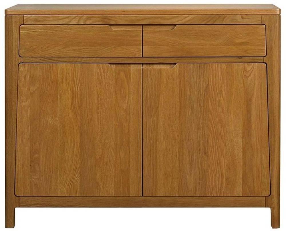Buy Mark Webster Geo Oak Sideboard – Small 2 Drawer Online – Cfs Uk With Regard To Small Wooden Sideboard (#4 of 20)