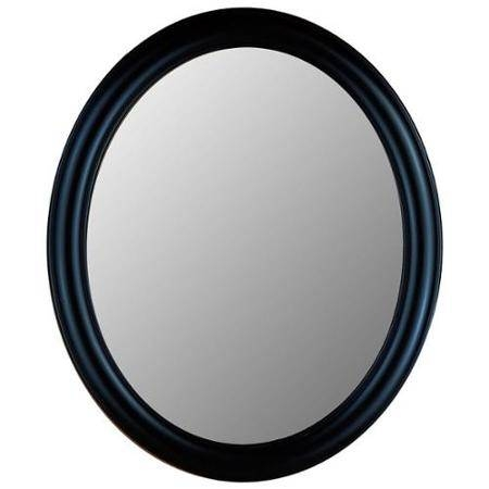 Buy Modern Black Framed Oval Decorative Wall Mirror – 770 Series With Black Oval Wall Mirrors (View 19 of 20)