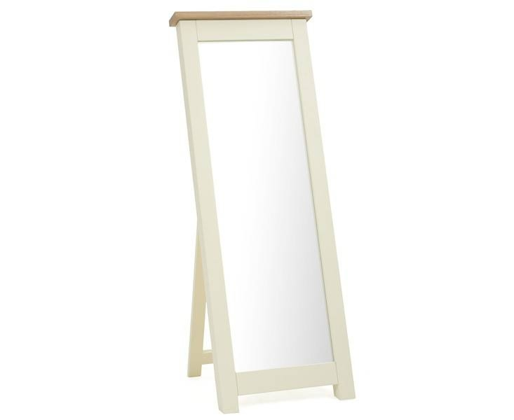 Buy The Somerset Oak And Cream Cheval Mirror At Oak Furniture With Cream Cheval Mirrors (#9 of 15)