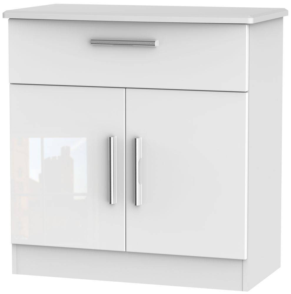 Buy Welcome Living Room Furniture High Gloss White Sideboard – 2 Inside Gloss White Sideboard (#5 of 20)