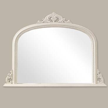 Buy White Overmantle Mirror Online – Artifax Mirrors Regarding Over Mantle Mirrors (#11 of 30)