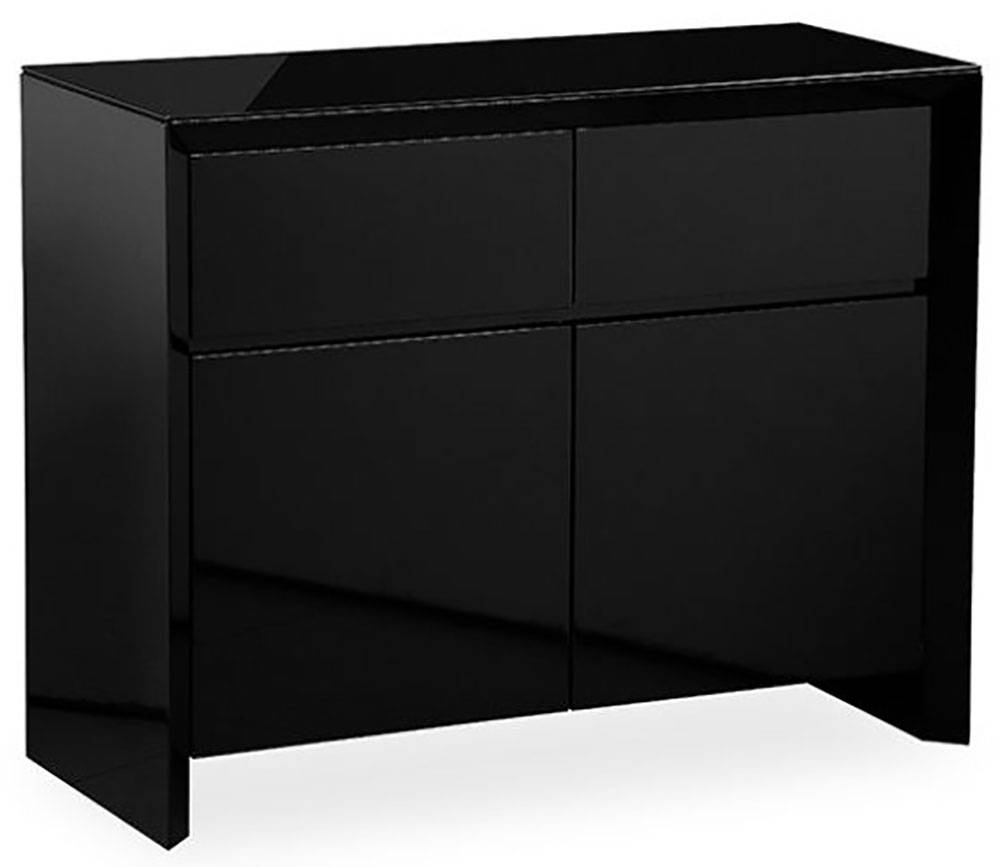 Buy Zeus Black High Gloss Small Sideboard Online – Cfs Uk Within High Gloss Black Sideboard (View 14 of 20)