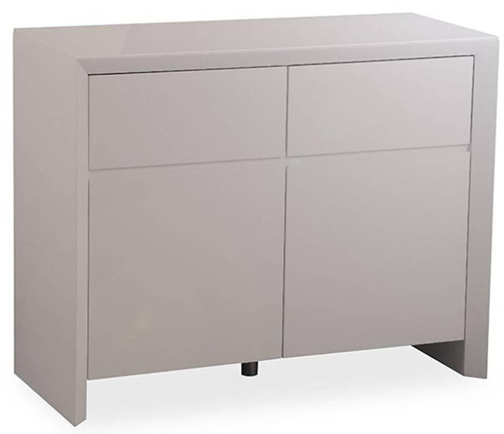 Buy Zeus Grey High Gloss Small Sideboard Online – Cfs Uk With Regard To Grey Gloss Sideboard (#3 of 20)