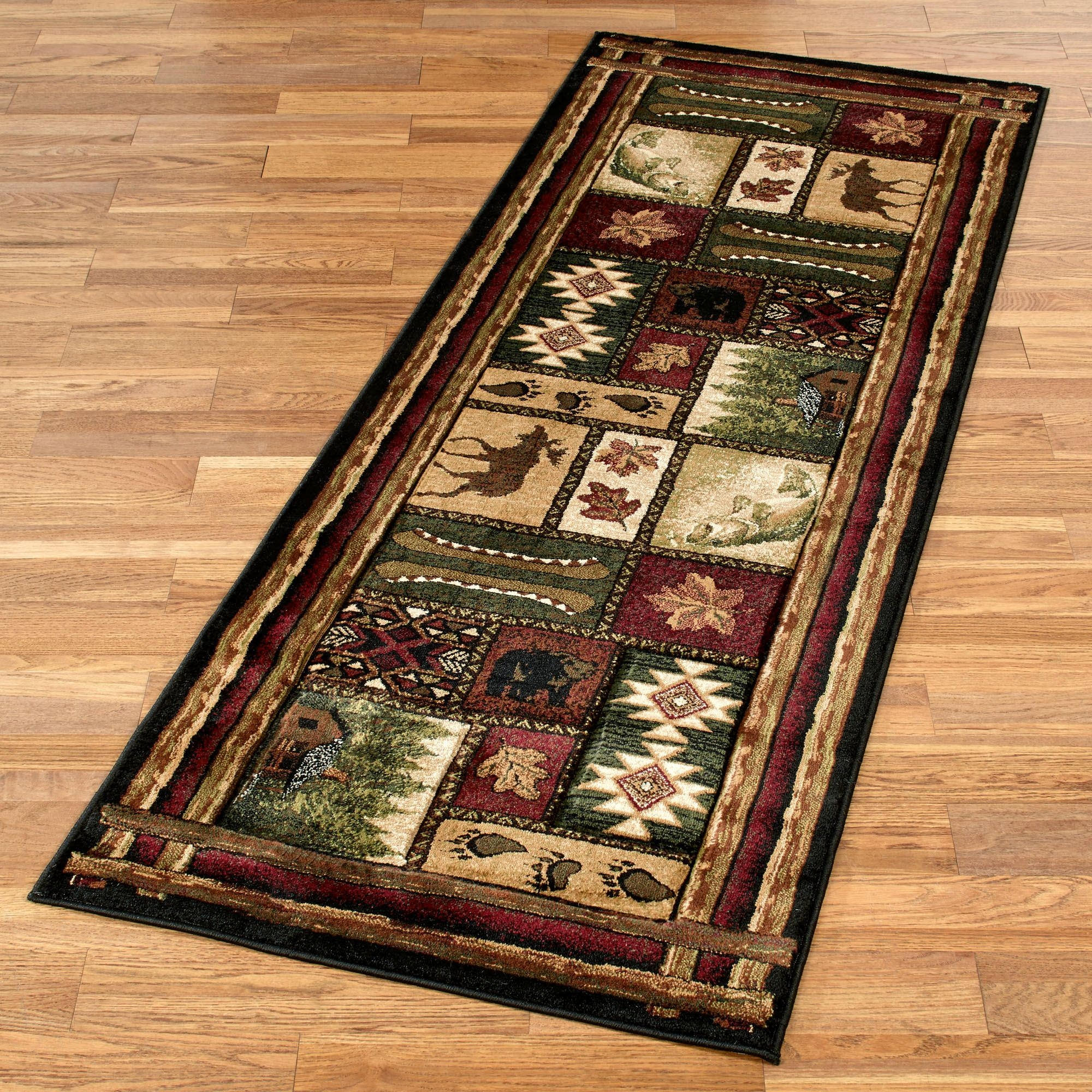 Cabin Chalet Rustic Rug Runner Within Runner Rugs For Hallway (#9 of 20)